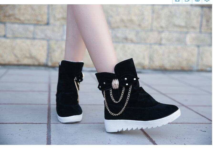 2019 Winter New Snow Boots Women's Boots Women's Tube Casual Bow Snow Boots Warm Cold Burning Feet Women's Boots Cotton Shoes 61