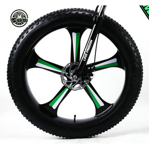 Image 3 - אהבת חופש למעלה איכות 7/24/27 מהירות 26*4.0 שומן אופני אלומיניום מסגרת אופני הרי הלם השעיה מזלג bicicleta שלג אופניים