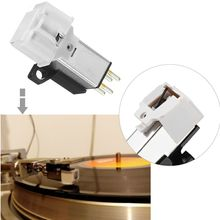 Cartucho para puntero magnético con aguja de grabación de vinilo LP para fonógrafo giradiscos Gramophone Record Stylus aguja Accesorios
