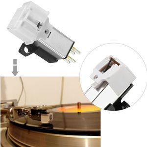 Magnetic Cartridge Stylus With LP Vinyl Record Needle For Phonograph Turntable Gramophone Record Stylus Needle Accessories(China)