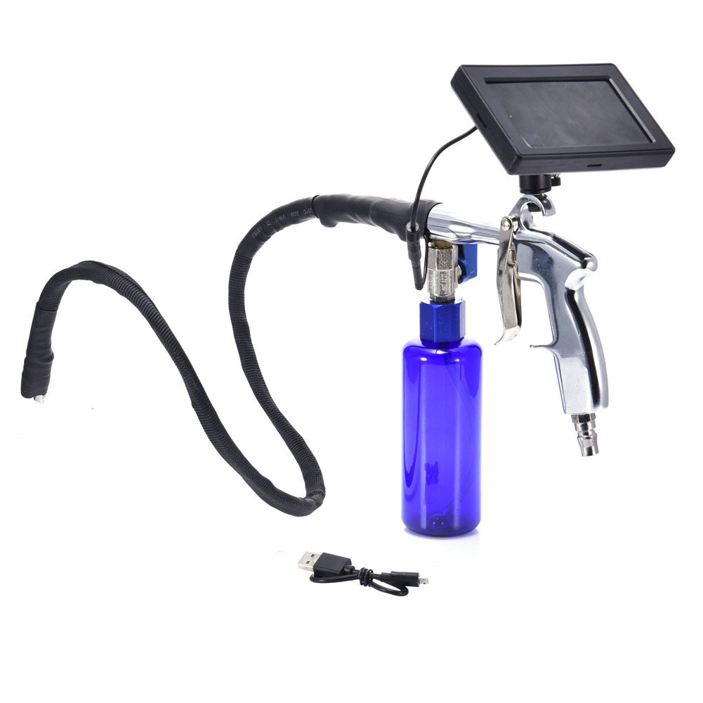 Professionele Cleaner Pipe Endoscoop 4.3 Inch Waterdichte Auto Schoonmaken Tool Batterij Aangedreven Airconditioning Visuele Washer Tool - 2