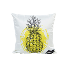 Imitation silk material home car cushion covers 45*45cm no core yellow pineapple pattern pillow for sofa bed chair X90