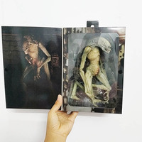 18cm NECA Original Aliens Vs Predator Figure Alien Resurrection Delune Newborn Action Figure Model Toys Doll Gift