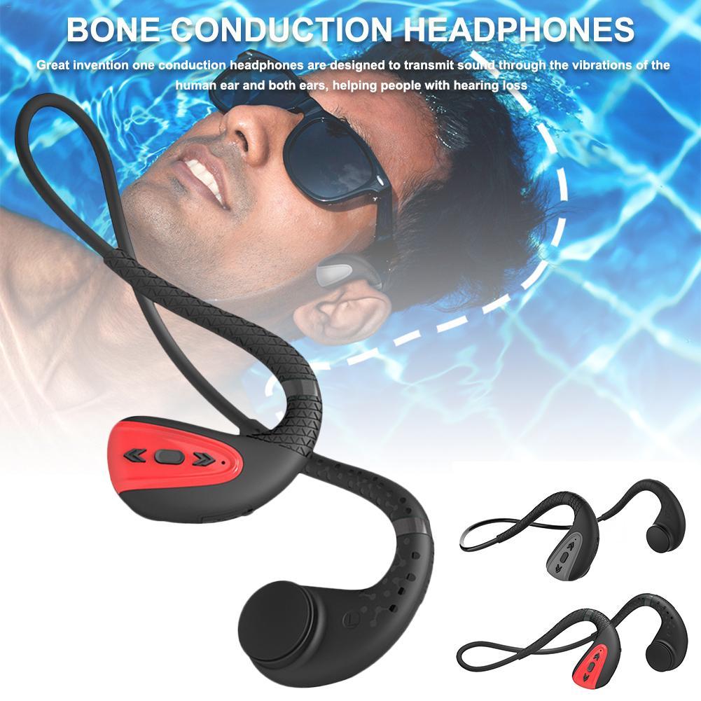 Bone Conduction Bluetooth 5.0 Headset Stereo Level 8 Waterproof Sports Swimming Running Wireless Headphone Mic Handsfree Headset on AliExpress 6