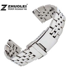 22mm 24mm High Quality Solid Stainless Steel Watch Bracelet for mens  Breitling watch band