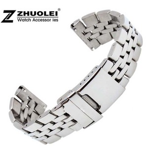 Image 1 - 22mm 24mm High Quality Solid Stainless Steel Watch Bracelet for mens  Breitling watch band