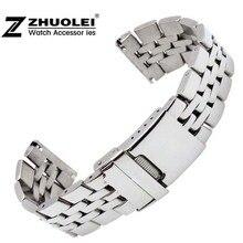 22mm 24mm איכות גבוהה מוצק נירוסטה שעון צמיד לגברים של ברייטלינג להקת שעון