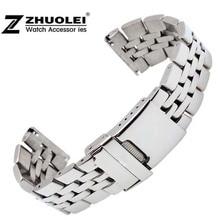 Bracelet de montre pour hommes en acier inoxydable, résistant, 22mm/24mm, de haute qualité, Bracelet de montre