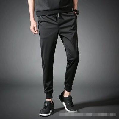 Mens Casual Pants Elastic Waist Long SweatPants Sports Loose Trousers Fashion