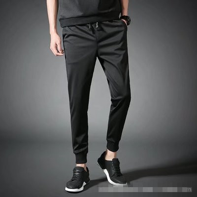 Punk  Mens Casual Pants Elastic Waist Loose Sports Long Sweatpants Men Fashion Trousers Men