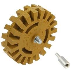4 Cal 100mm naprawa lakieru adapter do wiertarki samochodowej gładkie prążki gumka koła Auto skuteczne szybkie gumowe usuwanie kalkomanii|Pielęgnacja tworzywa sztucznego i gumy|   -
