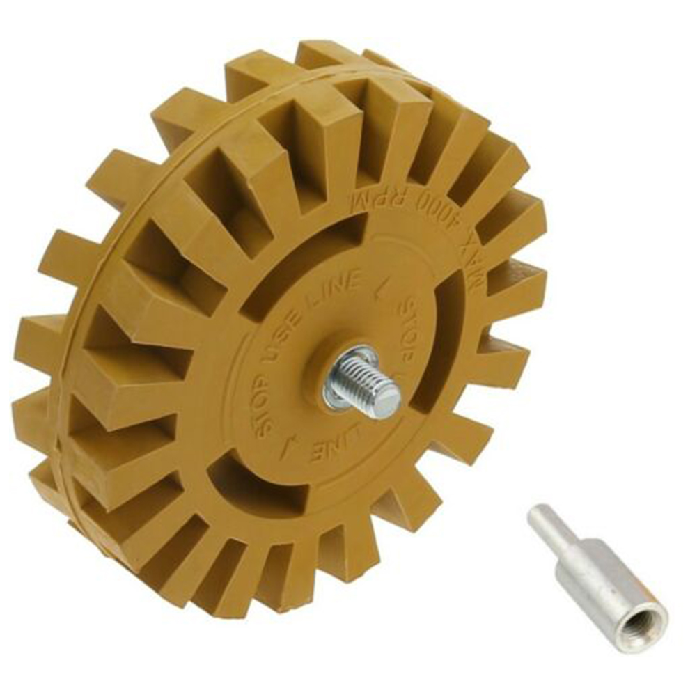 4 Inch 100mm Paint Repair Car Power Drill Adapter Smooth Pinstripe Eraser Wheel Auto Effective Quick Rubber Decal Removal