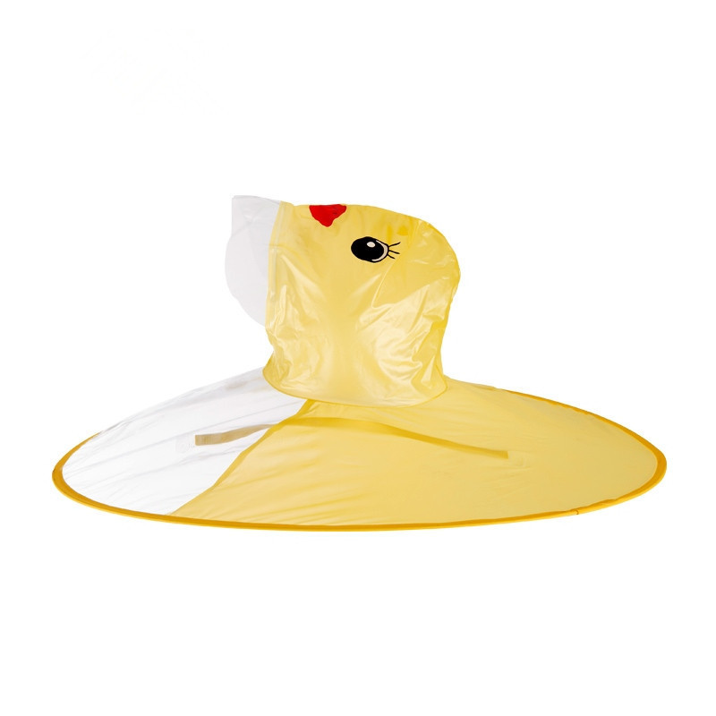2019 Creative Yellow Duck UFO Raincoat  Cute Rain Toys For Children Cover Waterproof For Kids Outdoor Play Supplies