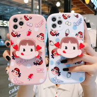 Japão bonito dos desenhos animados doces leite menina arco silicone macio caso do telefone para apple iphone 6 7 8 plus x xs xr max 11 pro 12 mini capa traseira