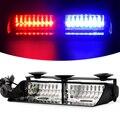16 LED Strobe Signal Notfall Polizei Windschutzscheibe Warnung Leuchtfeuer Rot Blau Gelb Bernstein Weiß Grün