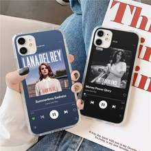 Custodia per telefono Album Lana Del Rey music player trasparente per iPhone 11 12 mini pro XS MAX 8 7 6 6S Plus X 5s SE 2020 XR