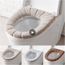 1PC Toilet Seat Cover Comfortable Warm Winter Toilet Cover Thickened Bathroom Product Home Closet Toilet Seat Cushion Box Cover
