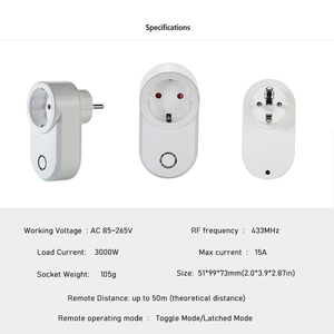 Image 4 - 433Mhz Wireless Remote Control Switch Smart Socket EU French Plug 220V 16A Electrical Outlet And Universal Switches For Lamp