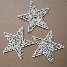 Рождественская мода из натурального ротанга лоза DIY Звезда Венок-гирлянда Рождественская елка декор домашнего окна орнамент