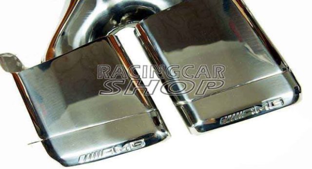 S63 S65 AMG STYLE Dual Exhaust Tips Pipes Fit For Mercedes Benz W212 E350 E500 E550 E63 W221 W166 W204 1PAIR M121W 6