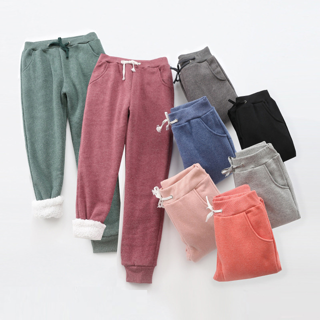 Winter Cashmere Harem Warm Pants Women 2020 Causal trousers Women Warm Thick Lambskin Cashmere Pants Women Loose Pant 2