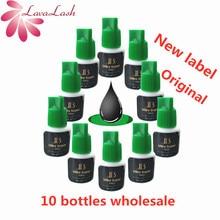 10 زجاجات/مجموعة الأسود الرموش الصناعية الغراء IB سوبر الغراء رمش ملحقات الغراء 5 مللي كوريا لاش الغراء رمش لاصق الغراء