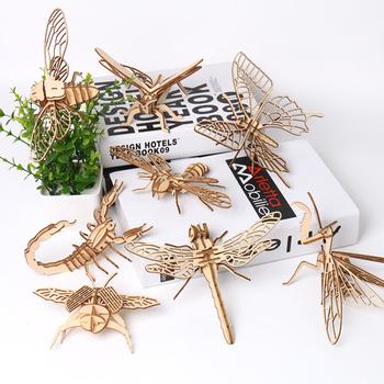 3D drewniane Puzzle owad Model zestaw montażowy zabawka intelektualna gra edukacyjna DIY zwierząt zabawki urodzinowe dla dzieci prezent dla dzieci tanie i dobre opinie CN (pochodzenie) Unisex 5-7 lat 8-11 lat 12-15 lat STARSZE DZIECI 6 lat 3 lat 8 lat 3 lat Drewna Spersonalizowana łamigłówka