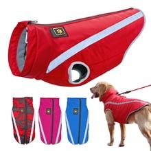 Ropa para perros invierno perros grandes ropa chaqueta reflectante para mascotas ropa impermeable Chaleco de Pitbull acolchado de lana XL-6XL