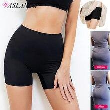 Calcinha boxer antiderrapante, calcinha curta feminina cintura alta anti-emagrecimento calças