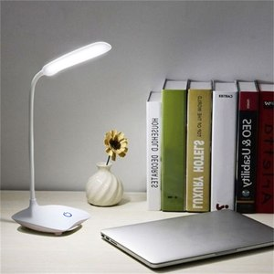 Junejour USB Rechargeable LED Desks Table Lamp Adjustable intensity Reading Light Eye Protection Touch Switch Desk Lamps 3 Modes