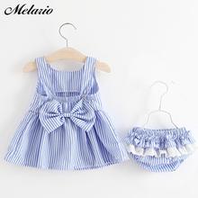 Zestawy ubrań dla niemowląt Melario letnia sukienka w paski i spodenki 2 szt Noworodek dziewczynka ubrania dla niemowląt odzież stroje dla niemowląt tanie tanio COTTON POLIESTER W wieku 0-6m 7-12m 13-24m 25-36m 4-6y CN (pochodzenie) Lato Dziecko dla obu płci moda Z okrągłym kołnierzykiem