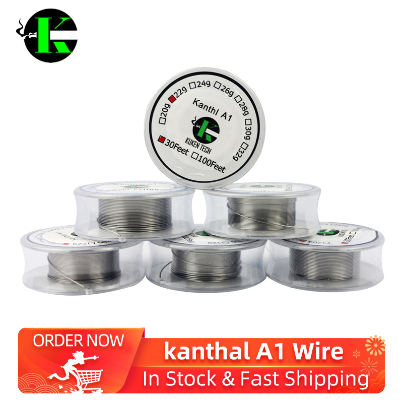 Kuken Tech 30 Feet/ROll Kanthl A1 Wire Resistance Wire For Rda Rat Electronic Cigarette Heating Wires DIY Vaporizer Coil VS XFKM