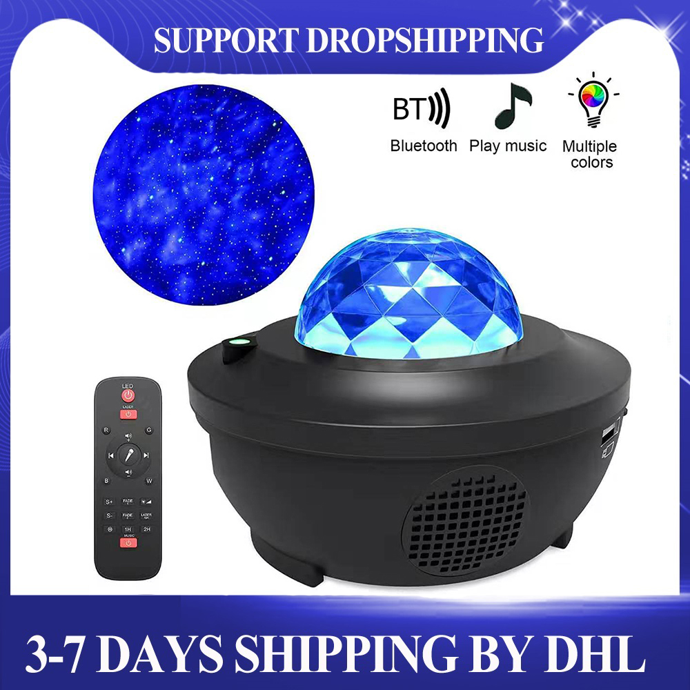 Mega Deal D54f Led Star Projector Night Light Galaxy Starry Night Lamp Ocean Wave Projector With Music Bluetooth Speaker Remote Control Cicig Co