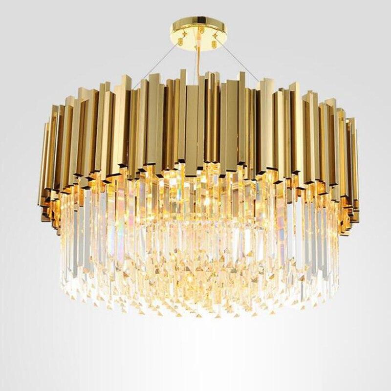Новая современная люстра роскошная хрустальная люстра для гостиной столовой Золотой хрустальный канделябр светодиодный светильник