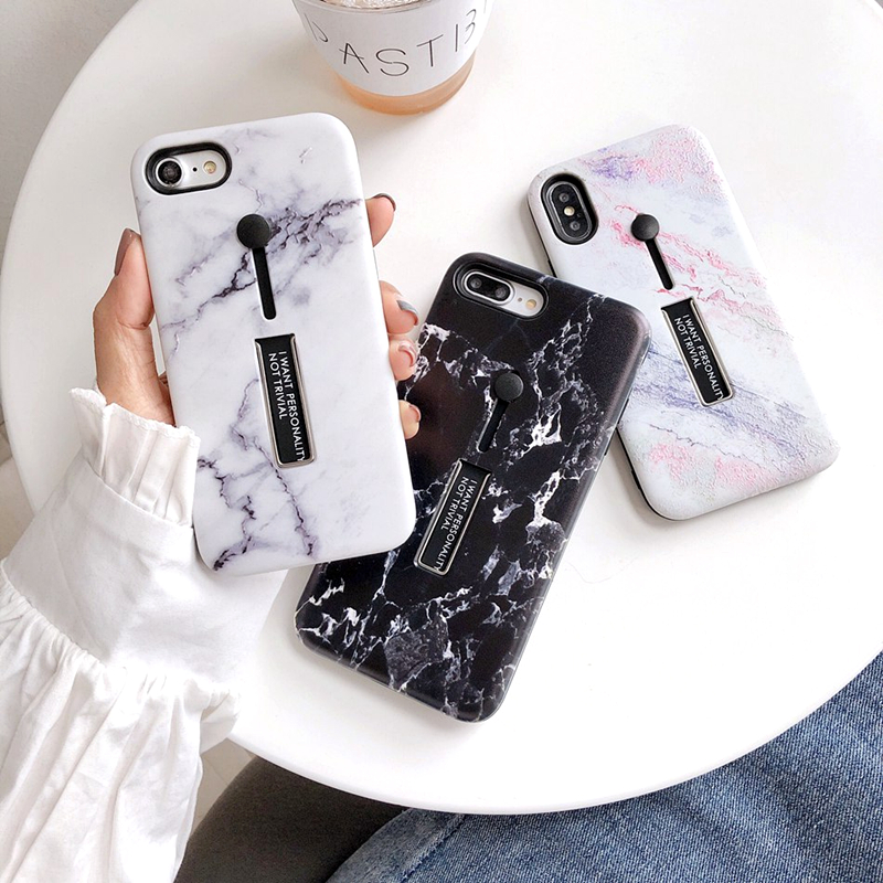 Fashion 3D Relief Marble <font><b>Loop</b></font> <font><b>Ring</b></font> <font><b>Phone</b></font> <font><b>Case</b></font> For iPhone 7 <font><b>Case</b></font> X XS MAX XR 7 6 8Plus Soft Silicone Hide <font><b>Ring</b></font> Stand Holder Cover image