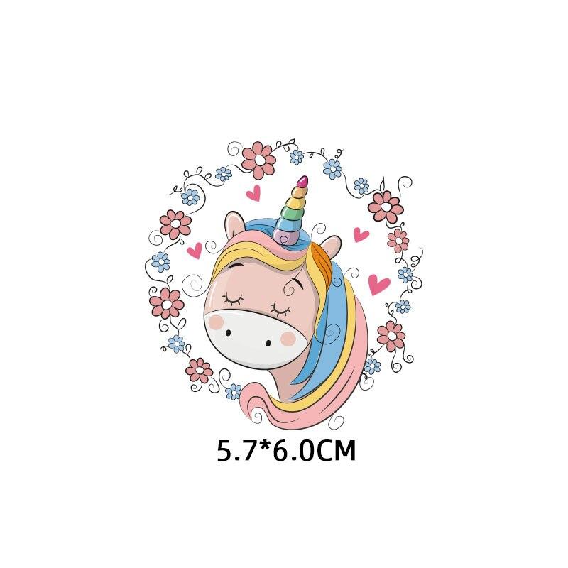 Мультяшный пони, единорог, динозавр, железная нашивка, теплопередача, одежда в полоску, футболка для мальчиков и девочек, сделай сам, волшебная наклейка на заказ - Цвет: ZT1114