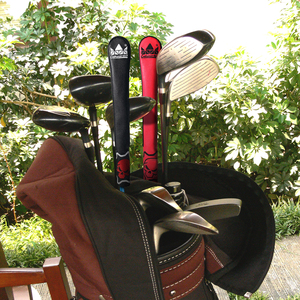 Image 5 - Craftsman Golf Hand Made Leather Alignment Stick Cover Black & Red Skull  High Quality New Design