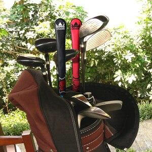 Image 5 - Craftsman Golf hecho a mano Alineación de cuero Stick cubierta negro y rojo cráneo Alta Calidad nuevo diseño