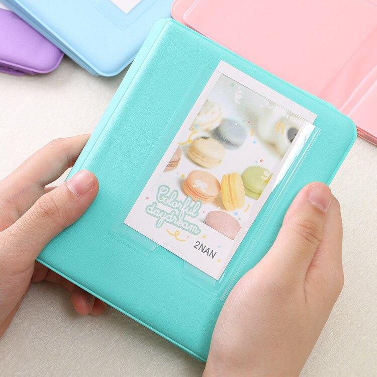 64 Карманы Мини Мгновенный Полароид фотоальбом чехол для хранения для Кореи instax Мини альбом - Цвет: B