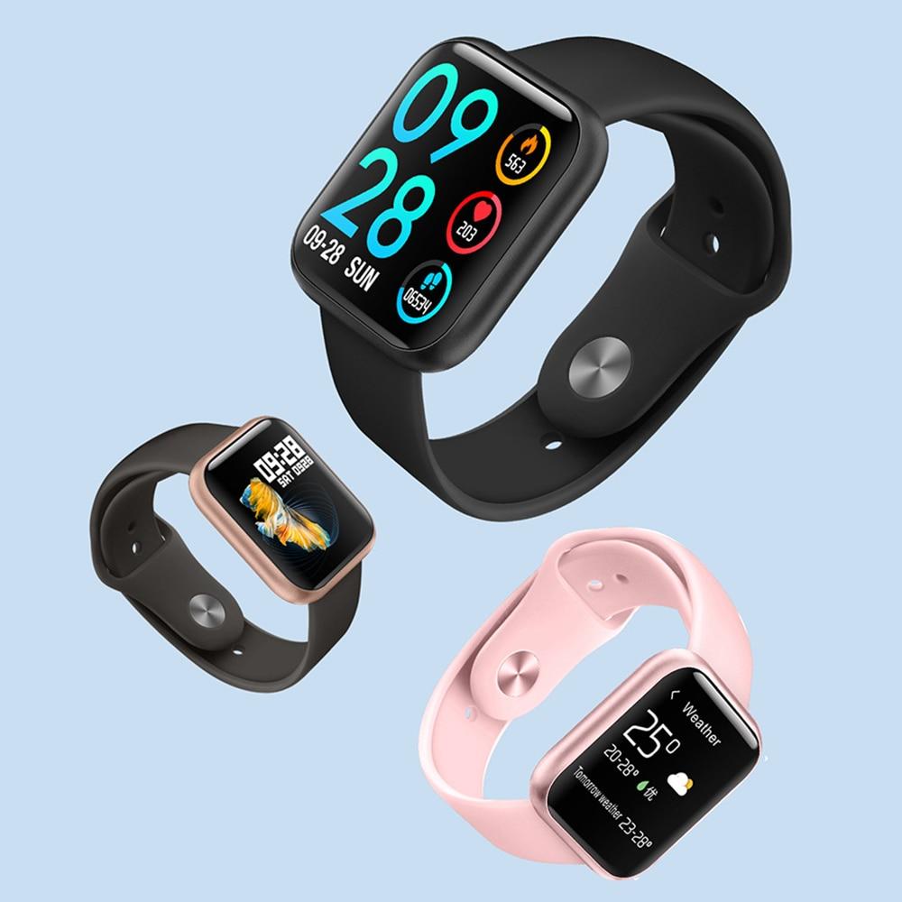 P80 Full Touch Screen IP68 Waterproof Smart Watch for ios Phone Xiomi Samsun Phone Heart Rate Monitoring Women Men Smartwatch