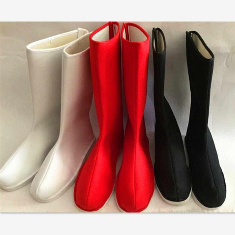 Czarne buty kungfu dorośli długie buty dla mężczyzn starożytne chińskie buty rycerz cosplay buty wu shu buty słońce wukong cosplay