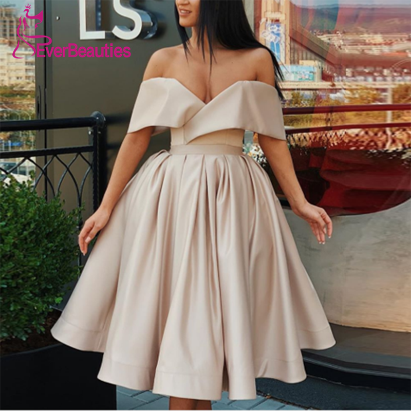 Sexy Vestido   Cocktail   Short   Cocktail     Dresses   Off The Shoulder 2019 Prom Party   Dresses   Slit Robe   Cocktail   Sukienka Koktajlowa