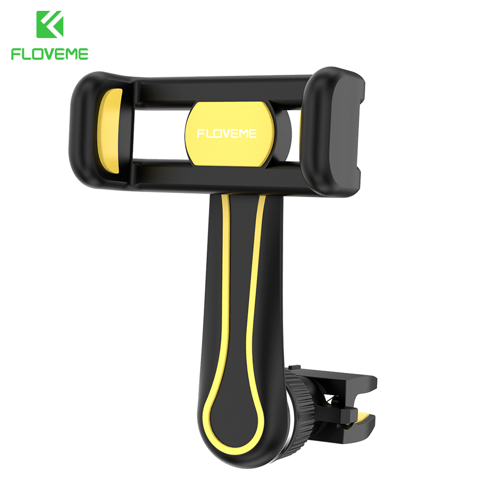 FLOVEME Universal Car Phone Holder For Smartphone Phone Stand Air Vent Mount Cell Mobile Pone Holder Support Telephone Voiture
