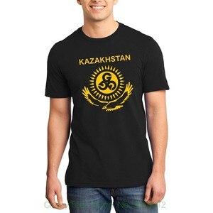Летние хлопковые Модные мужские футболки с короткими рукавами, унисекс, с флагом Kz, Ggg Gennady Golovkint, S-5xl