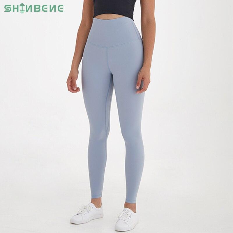 SHINBENE HIDDEN BELLY FAT Super High Rise Sport Fitness Leggings Women Butter Soft Squat Proof Workout Gym Yoga Pants Tights