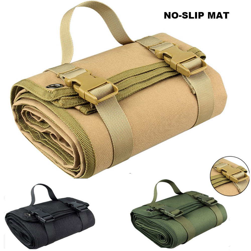 Tactical Shooting Mat Non-Slip Outdoor Hunting Mat Roll-up Combat Gun Rifle Blanket 1000D Waterproof Camping Foldable Pad Cloth