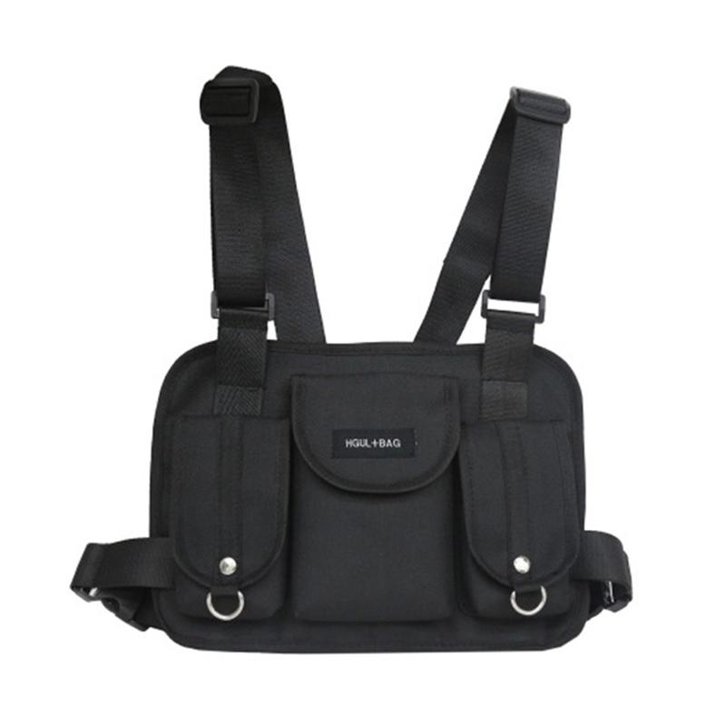 New Women Tactical Belt Bags Chest Rig Bag Hip Hop Streetwear Men Functional Waist Packs Adjustable Pockets Waistcoat Kanye West
