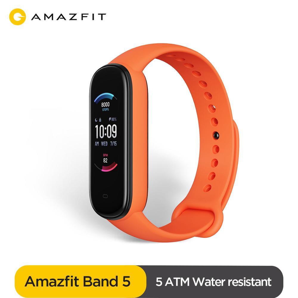 Amazfit-reloj inteligente Amazfit Band 5 con 15 días de Duración de la batería, Resistente al agua hasta 5atm