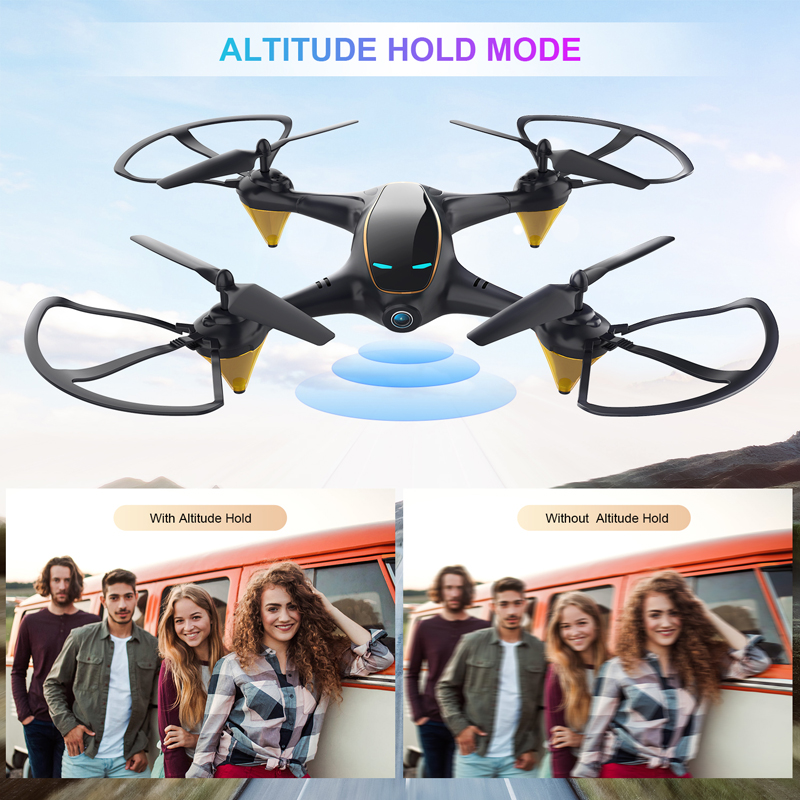 Eachine RC Drone Toys Rc-Quadcopter Aerial-Video FPV Dual-Camera Wifi E38 Aircraft HD