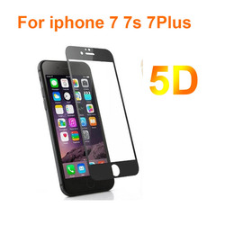 5D szkło ochronne na telefon 7 7s 7plus Premium hartowane szklany ochraniacz ekranu na telefon 7plus 7 7s HD Screen Protector